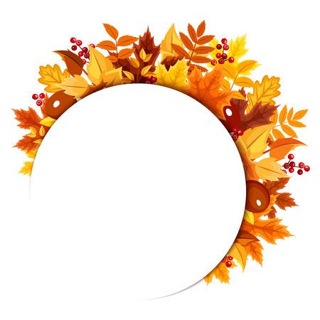 autumn leaves.  イラスト・ベクター素材