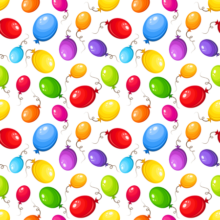 Seamless background with colorful balloons. Vector illustration. Vector