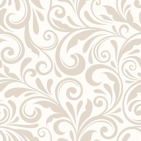 Vintage seamless floral beige. Vector illustration. Banque d'images - 33199265