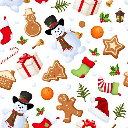 Christmas seamless background. Vector illustration. Illustration
