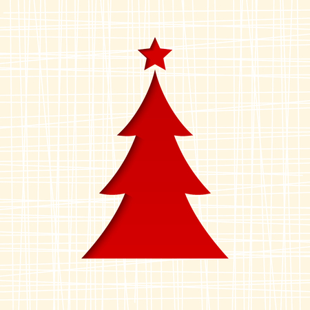 firtree: Christmas card with fir-tree. Vector eps-10.