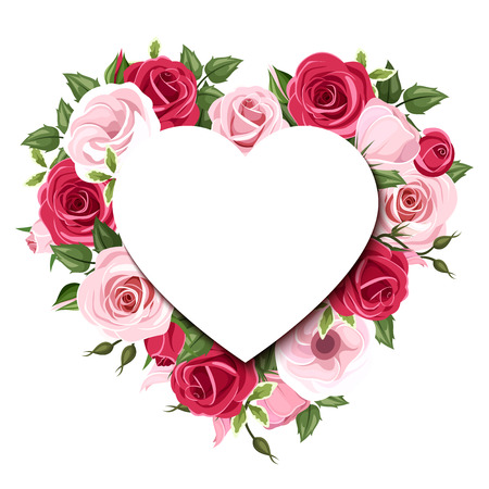 rosas rojas: Fondo con las rosas y las flores del lisianthus. Eps-10 de vectores. Vectores