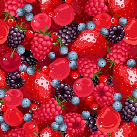 brambleberry: Fondo transparente con diversas bayas. Ilustraci�n del vector. Vectores