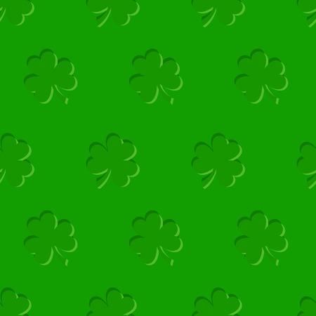 shamrock seamless: St. Patricks day vector seamless green background with shamrock.