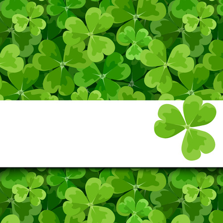 st patrick day: St. Patricks day vector card with shamrock.