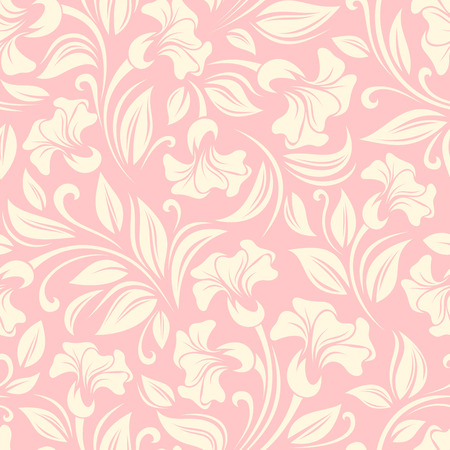 ivory: Seamless floral pattern. Vector illustration.