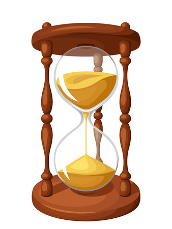 hourglass: Hourglass isolated on white. Vector illustration.