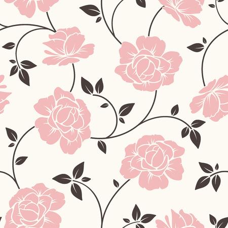 シームレスな花柄。ベクトルの図。  イラスト・ベクター素材