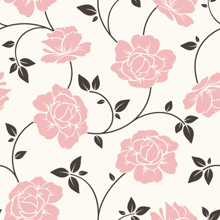 continuous: Seamless floral pattern. Vector illustration.