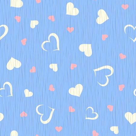 furnier: Vector nahtlosen blauen Holz Textur mit Herzen Muster.