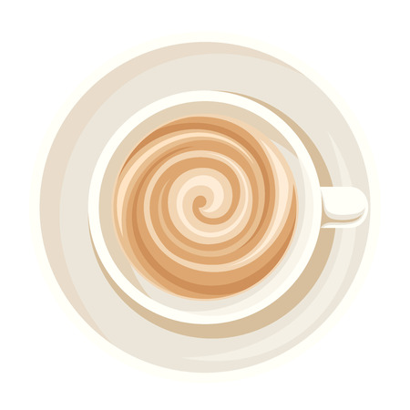 cappuccino: Cup of coffee. Vector illustration.
