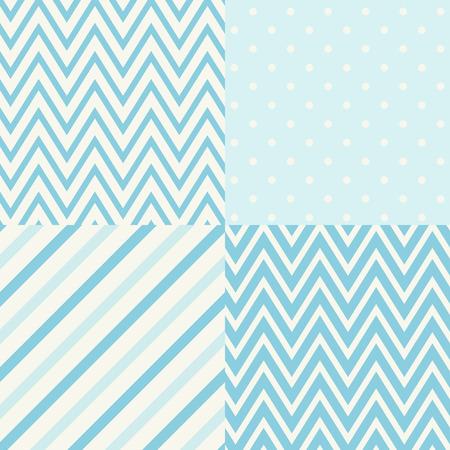 lines decorative: conjunto de cuatro patrones geom�tricos sin costura para scrapbook Vectores