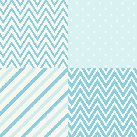 dot pattern: set of four seamless geometric patterns for scrapbook Illustration