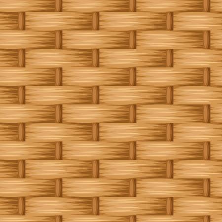 Brown wicker texture. Vector seamless background.