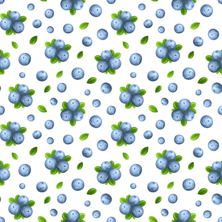 organics: Seamless pattern with blueberries. Vector illustration. Illustration