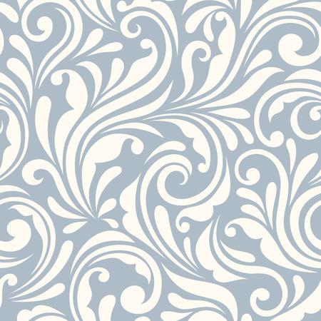 muster: Vector Jahrgang nahtlose blauen und weißen Blumenmuster.