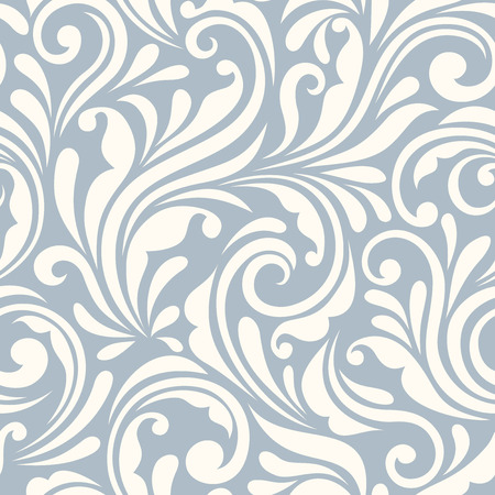 Vector vintage bleu et blanc seamless floral. Banque d'images - 47694815