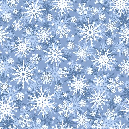 christmas snowflakes: Vector seamless blue and white Christmas pattern with snowflakes.