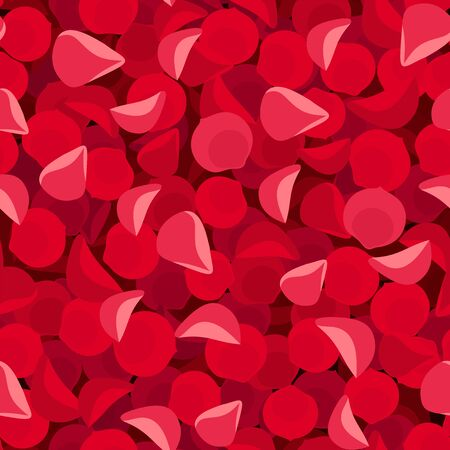 red rose petals: Vector seamless background with red rose petals.
