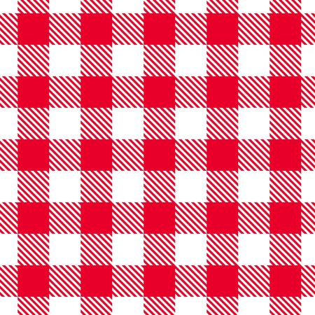 sin fisuras patrón de cuadros rojos y blancos del vector.