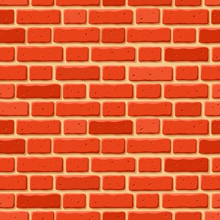 La textura del vector sin fisuras de la pared de ladrillo rojo. Foto de archivo - 57050747