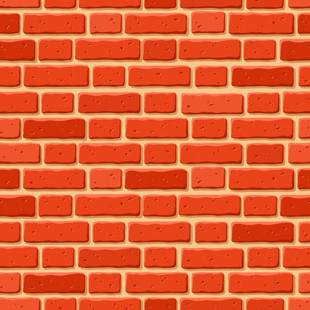 Vector seamless texture of red brick wall. Illustration