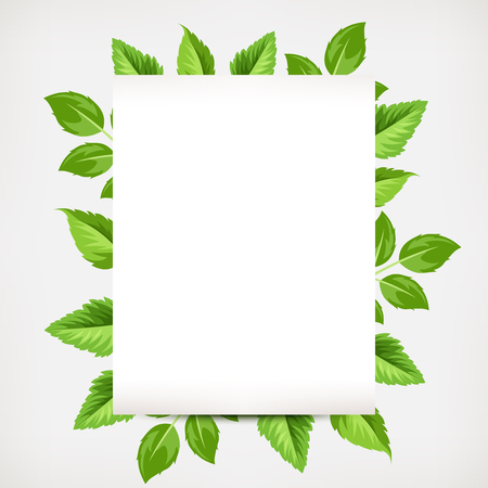 leafage: Vector background banner with green leaves. Illustration
