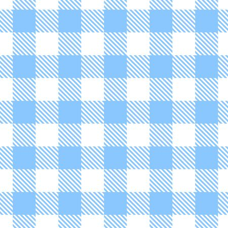 gingham pattern: Vector seamless blue and white gingham pattern. Illustration