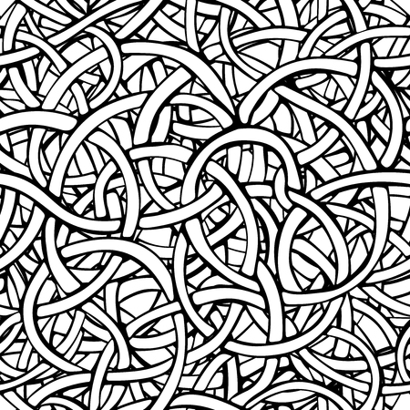 Vector abstract black and white seamless pattern.