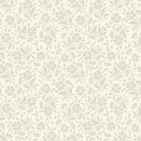 seamless beige floral pattern.
