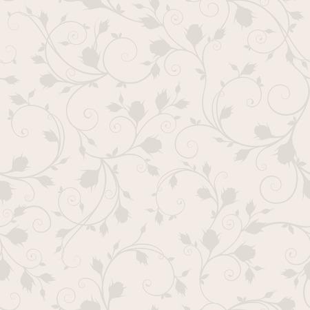 Vector seamless beige floral pattern.