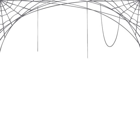 Halloween vector background with spider web.