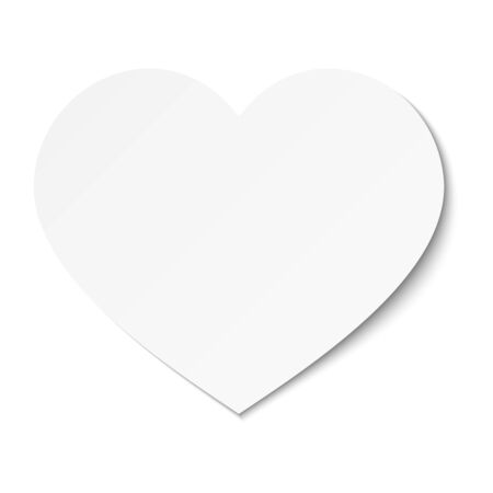 Vector white Valentine's day card with heart.