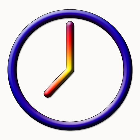siesta: Clock symbol Stock Photo
