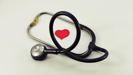 Stethoscope to listen for heart rhythms.