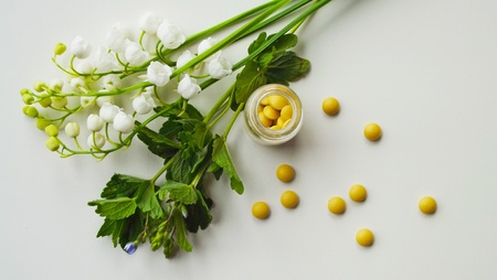 Sedative pills from medicinal herbs.