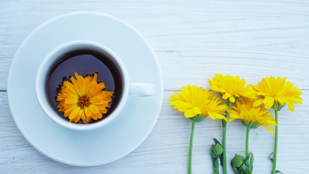 Useful medicinal herb calendula.Brew for the cure.