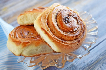 Delicious cinnamon rolls.Dessert for tea.