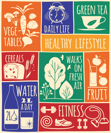pear tree: illustration of healthy lifestyle