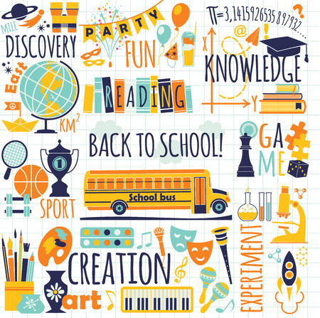 globe theatre: Back to school  Vector illustration