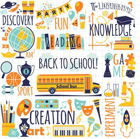 globe theatre: Back to school  Vector illustration