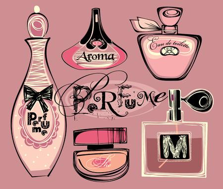 Vector illustration of porfume bottles Vector