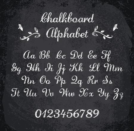 blackboard: illustration of chalked alphabet. Imitation texture of chalk Illustration