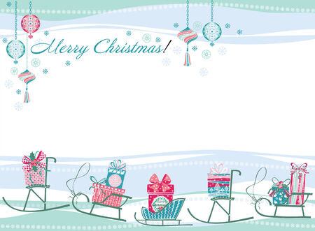 softly: Christmas and New Year card. Design elements for posters, flyers, graphics module, paper.Vector illustration of Merry Christmas gift boxes.