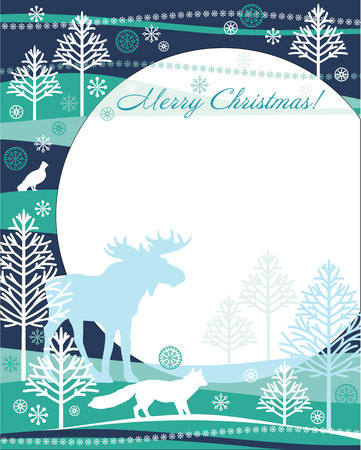 softly: Christmas and New Year card. Design elements for posters, flyers, graphics module, paper.Vector illustration. Illustration
