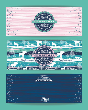 Merry Christmas background with Typography. Vector