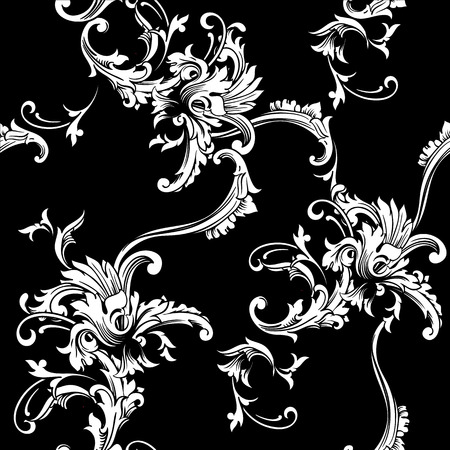 Seamless vector background. Baroque pattern