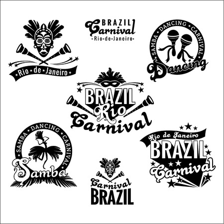 maracas: Brazilian Carnival. Big set of Brazilian templates for graphic modules, banners, posters, flyers, presentations.