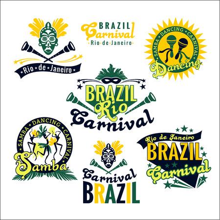 carnaval: Carnaval au Br�sil. Big ensemble de mod�les br�siliens pour modules graphiques, banni�res, affiches, flyers, pr�sentations.