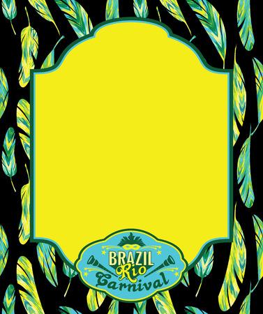 maracas: Brazilian Carnival. Vector colorful background.Frame for design. Illustration